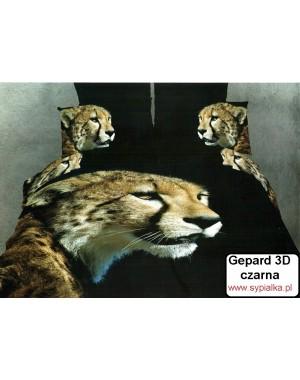 Pościel 3D Gepard czarne tło 160x200