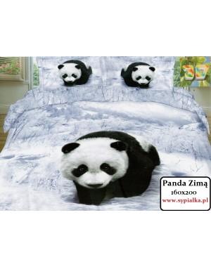 Pościel 3D Panda Zimą 160x200