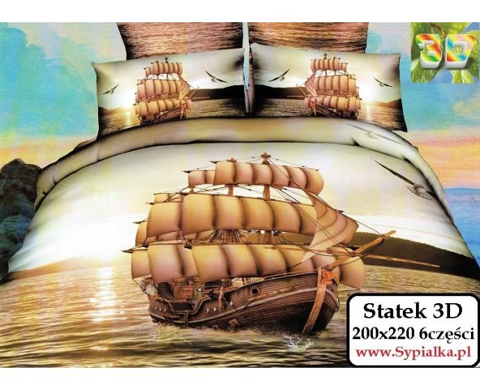 Pościel 3d Statek 200x220 Bawełna Satynowa Collection World