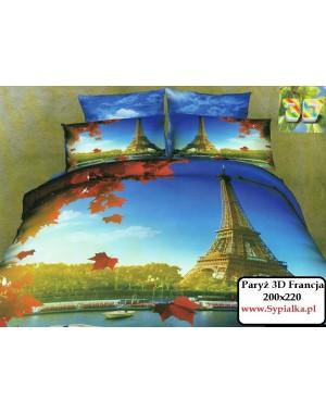 Pościel 3D 200x220 Paryż