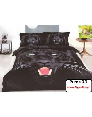 Pościel 3D Puma 160x200 Czarna pantera z prześcieradłem i jaśkami