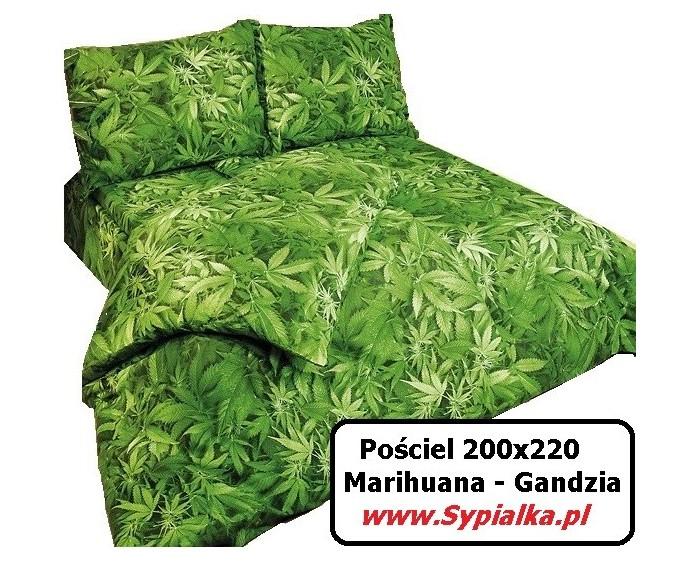 Pościel Zielona Marihuana 200x220 Gandzia - Zioło