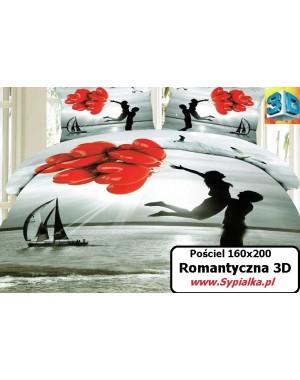 Pościel 3D Dla Zakochanych - czerwone balony serca 160x200