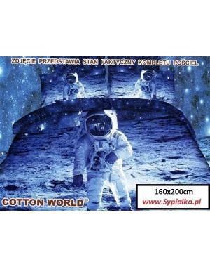 Pościel 3D Astronauta - Kosmos 160x200 bawełniana