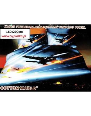 Pościel 3D Samoloty wojskowe - myśliwce 160x200 odrzutowce