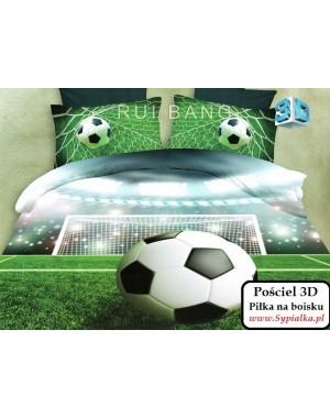 Pościel 3D Piłka na boisku 160x200 piłkarska