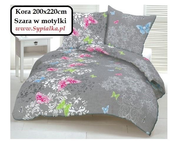 Pościel Z Kory Szara W Motylki 200x220 Kora Polska Bielawa