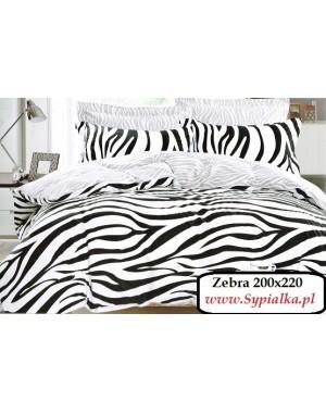 Pościel Zebra Zeberka paski czarno-białe 200x220 Elway