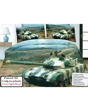 4cz. Pościel militarna Czołg na polanie 140x200cm z prześcieradłem