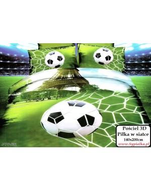 4cz. Pościel Piłka w siatce 140x200 piłkarska zielona