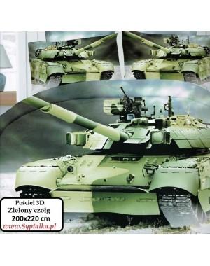 4 cz. Pościel militarna z czołgiem 200x220cm z prześcieradłem