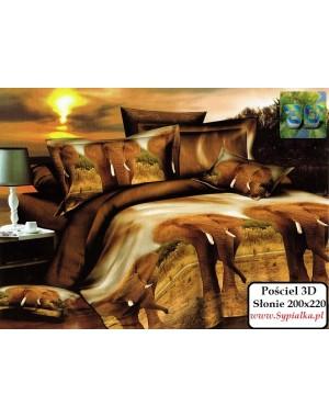 Pościel 3D Słonie 160x200