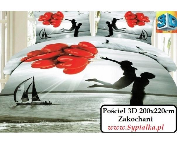 9e6bfb785a5b3d Pościel 3D Dla Zakochanych - czerwone balony serca 200x220 ...