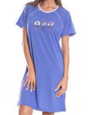 Koszula nocna XL sówki Jasnoróżowa rozpinana (dla karmiących)  G9gaF