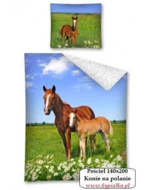 Pościel Koń w zbożu 140x200cm bawełniana