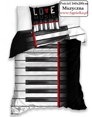 Pościel 3D Fortepian (muzyczna) dla muzyka 200x220