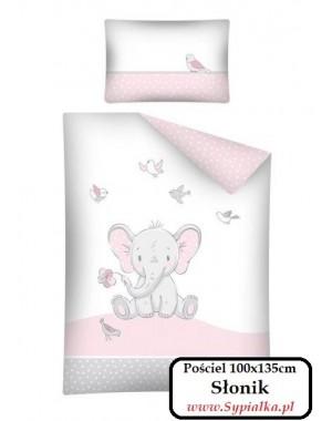 Pościel Słonik 100x135cm urocza dla dziewczynki