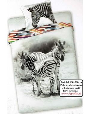 Pościel dwustronna Zebra 160x200 Wild kolorowa