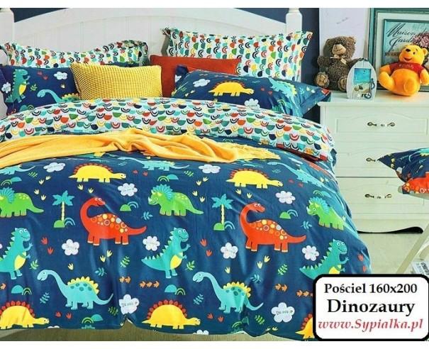 Pościel chłopięca Dinozaury 160x200