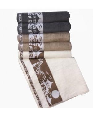 Ręcznik bambusowy grafitowy 70x140 turecki