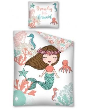 Pościel Syrenka 160x200 bawełniana dla dziewczynki