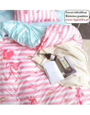 4cz Pościel Różowa pantera 160x200 satynobawełna