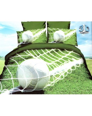 4cz. Pościel Piłka w siatce 160x200 piłkarska zielona