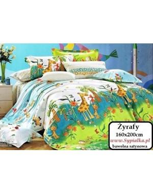 Pościel dziecięca Żyrafy 160x200 Kolorowa