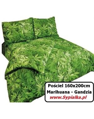 Pościel Zielona Marihuana 140x200 Gandzia Zioło