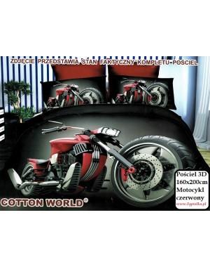 Pościel 3D Motocykl czerwony 160x200 motor
