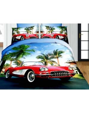 Pościel 3D auto i palmy 160x200 samochód