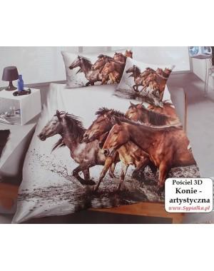 Pościel w brązowe konie 160x200 artystyczna