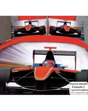 Pościel 3D Wyścigówka Formuła 1 160x200