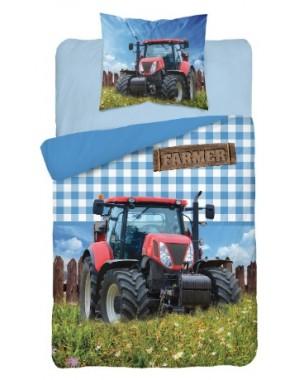 Pościel niebieska Traktor i...