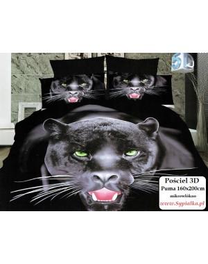 Pościel 3D Puma - Czarna...