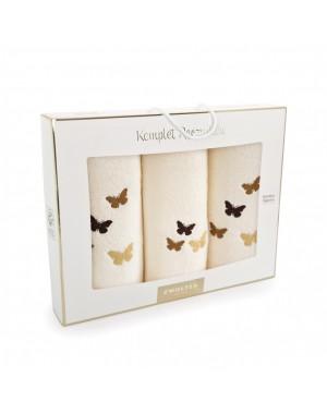 Komplet ręczników w motyle...