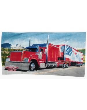 Ręcznik czerwona ciężarówka...