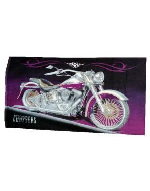 ręcznik fioletowy chopper motocykl