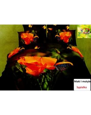 Pościel 3D Maki i motyle 200x220cm