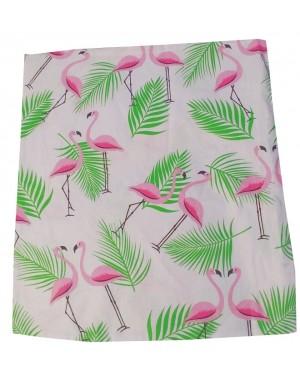 Poszewka Różowe flamingi i zielone liście 40x40cm