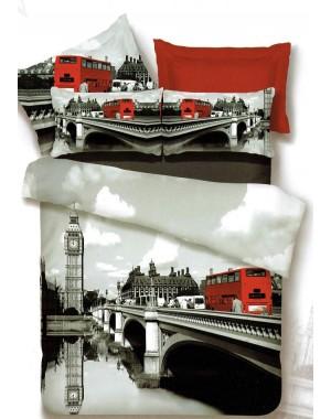 Pościel 3D Czerwony autobus...