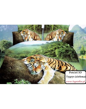 Pościel 3D Tygrys Zielone...