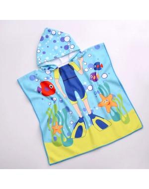 Poncho chłopięce - Ręcznik...