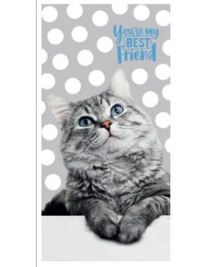 Ręcznik Szary z kotkiem w...
