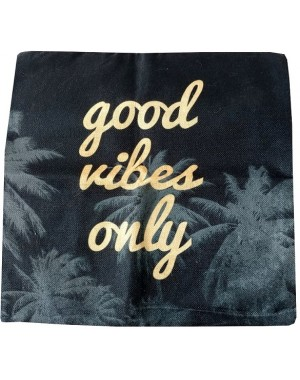 Poszewka Czarna Good vibes...