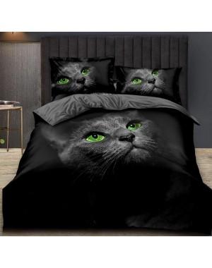 Pościel 3D Czarny kot w...