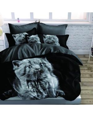 Pościel 3D Szary kotek -...
