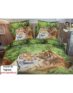 Pościel 3D Tygrysy Zielone...