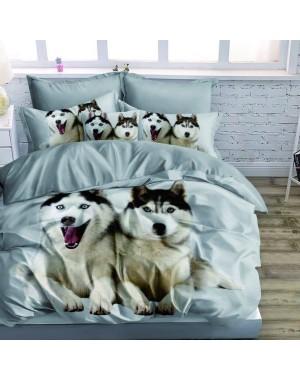 Pościel 3D Psy Husky -...