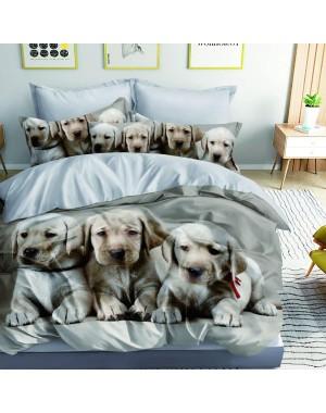Pościel 3D Psy Labrador-...